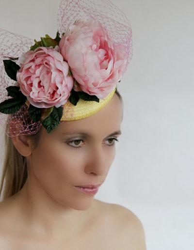 pinkflowerveil